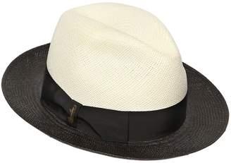 Borsalino Quito Two Tone Straw Panama Hat