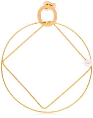 Lia Di Gregorio Cerchio Quadrato Gold Mono Earring