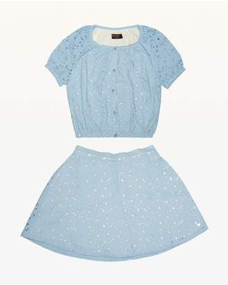 Juicy Couture Eyelet Top & Skirt Set for Girls