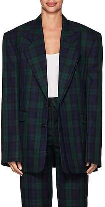 Y/Project Women's Plaid Twill Two-Button Blazer