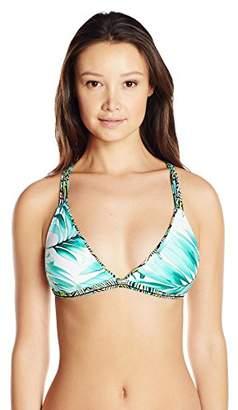 Body Glove Junior's Tropi-Cal Reversible Flare Halter Bikini Top