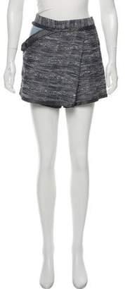 Derek Lam Tweed Wrap Shorts