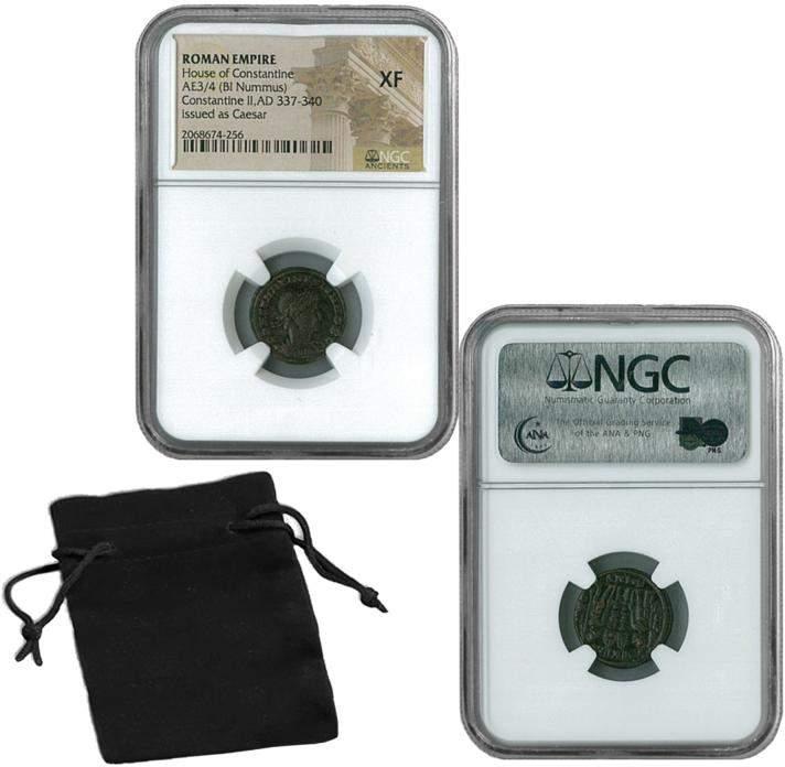 Coin Collector XF NGC Emperor Constantine II Roman Empire Bronze Coin