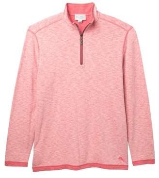 Tommy Bahama Sea Glass Reversible Half Zip Sweatshirt (Big & Tall)