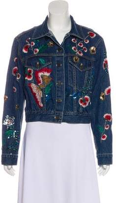 Alice + Olivia Embellished Denim Jacket w/ Tags
