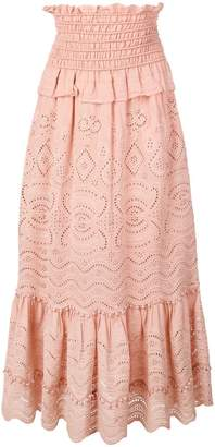 Sea Naomie smocked midi skirt
