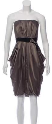 J. Mendel Silk Embellished Dress Olive Silk Embellished Dress