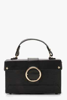 boohoo Ring Detail Structured Box Cross Body Bag