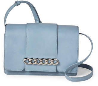Urban Expressions Blue Vienna Chain-Accented Crossbody