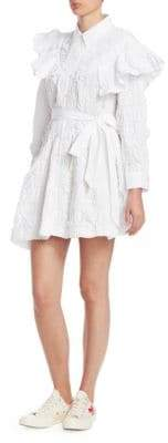 Simone Rocha Frill Full Shirtdress