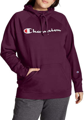Champion Womens Long Sleeve Fleece Hoodie-Plus