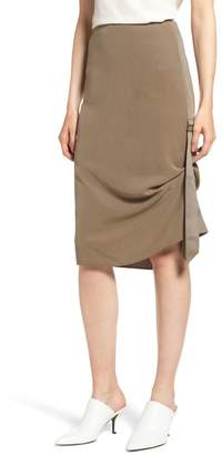 Trouve Side Drape Skirt