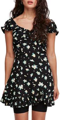Free People Like A Lady Floral-Print Mini Dress