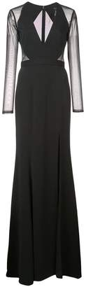 Jay Godfrey long-sleeve flared maxi dress