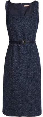 Michael Kors Belted Marled Wool-Blend Dress