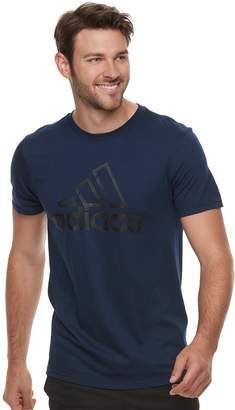adidas Men's Stitched Logo Tee