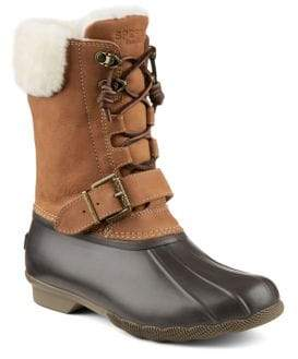 Sperry Saltwater Misty Thinsulate Shearling Leather-Blend Winter Boots