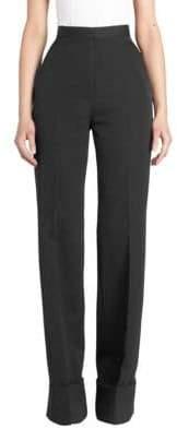 Stella McCartney Wool Mid-Rise Twill Trousers