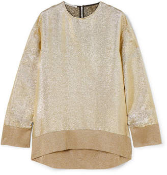 Stella McCartney Oversized Metallic Jersey Sweatshirt - Gold