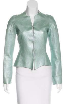 Rozae Nichols Metallic Leather Jacket