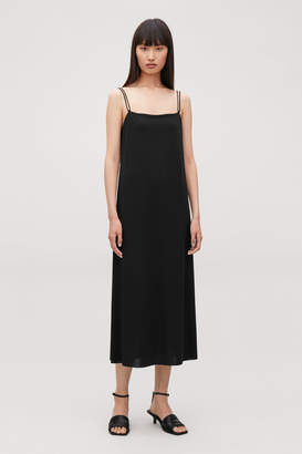 Cos JERSEY DRESS WITH NARROW STRAPS