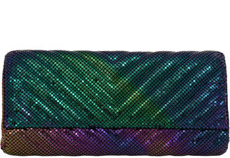 Whiting & Davis Quilted Chevron Clutch