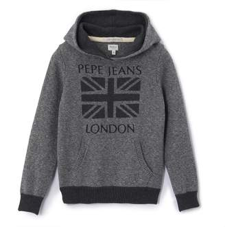 Pepe Jeans Chunky Knit Jumper with Hood, 8-16 Years