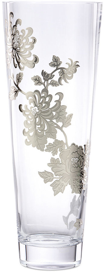 "Marchesa by Lenox Painted Camellia 12.5"" Vase"