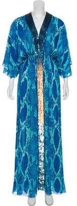 Matthew Williamson Silk Printed Maxi Dress