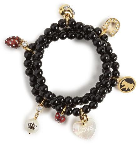 Juicy Couture Beaded Charm Bracelet, Black