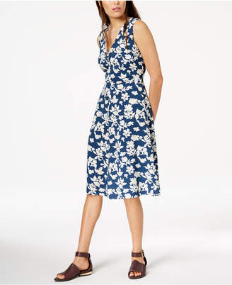 Max Mara Filippo Printed V-Neck Dress