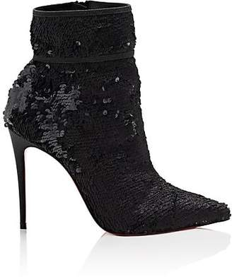 Christian Louboutin Women's Moulakate Paillette Ankle Boots - Black
