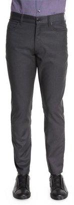 Ermenegildo Zegna Superfine Wool Five-Pocket Pants, Charcoal $445 thestylecure.com