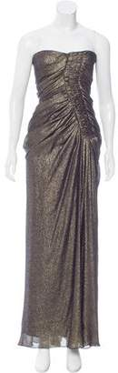 J. Mendel Strapless Brocade Gown