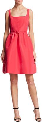 Oscar de la Renta Solid Silk A-Line Dress