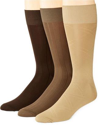STAFFORD Stafford 3-pk. Mens Nylon Microfiber Crew Socks - Extended Size