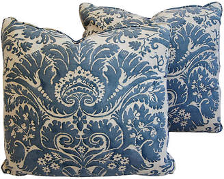 One Kings Lane Vintage Italian Fortuny Demedici Pillows - Set of 2
