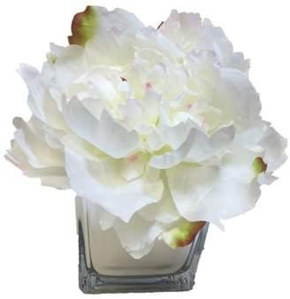 August Grove Artificial Silk Peonies Floral Arrangement in Decorative Vase Flowers/Leaves