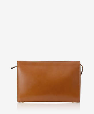 GiGi New York Saint Germain Clutch, Tan French Calfskin Leather