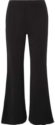 Elizabeth and James Carel Cropped Stretch-jersey Flared Pants - Black