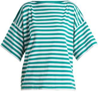 Marni Boat-neck striped cotton top