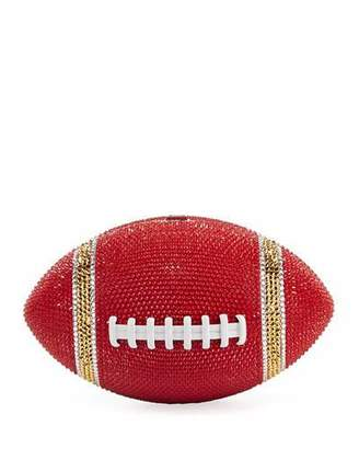 Judith Leiber Couture Game Ball Football Crystal Clutch Bag, Red/Gold
