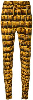 Versace animal print leggings