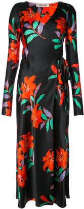 Diane von Furstenberg Tilly Long-sleeve woven wrap dress