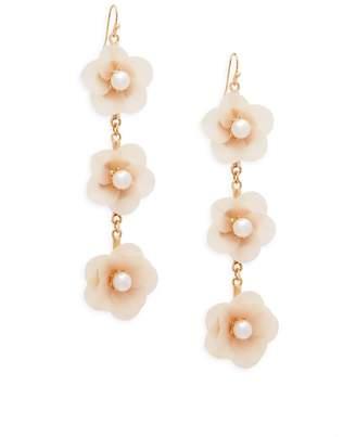 Jardin Women's Delicate Floral Drop Earrings