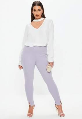 Missguided Curve Lilac Cigarette Pants