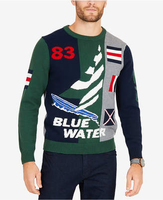Nautica Men's Intarsia '83 Graphic Sweater
