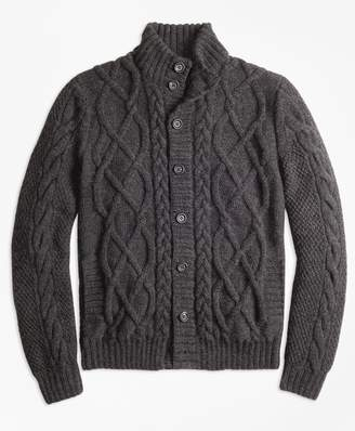 Brooks Brothers Hand-Knit Merino Wool and Alpaca Cardigan