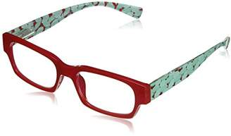 South Beach Peepers Women's Red/Turquoise 2426100 Rectangular Reading Glasses