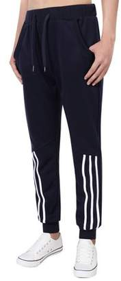 LinTimes Running Pants for Men Casual Long Pants With Elastic Waistband Color:Royal Blue Size:L